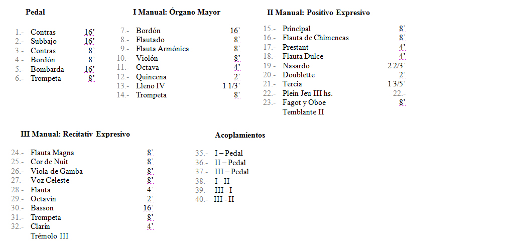 Disposition of the Organs of Orio